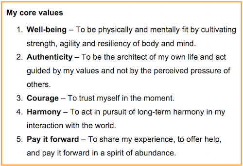 My core values